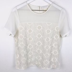 MM Couture by Miss Me |  Lacy Off White Blouse